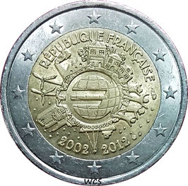 France 2 Euro 2012 - 10Years of Euro Cash KM#1846 VF