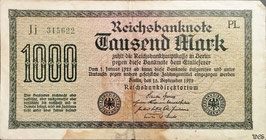 Germany 1000 Mark 15.09.1922 Ro 75m Printer: PL
