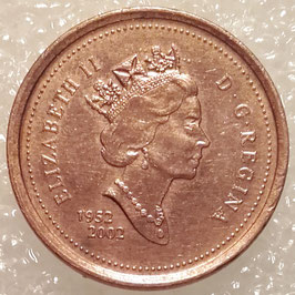 Canada 1 Cent 2002 - 50th Anniversary of the Succession of Queen Elizabeth II KM#445