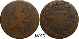 Austrian Netherlands 2 Liards (2 Oorden) 1790 KM#45 VG