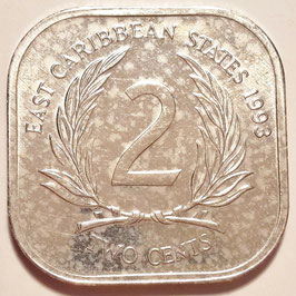 East Caribbean States 2 Cents 1981-2000 KM#11