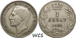 Yugoslavia 1 Dinar 1925 KM#5