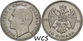 Yugoslavia 10 Dinara 1931 KM#10 VF