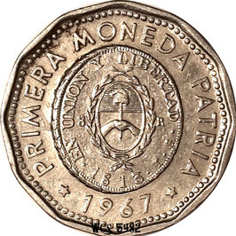 Argentina 25 Pesos 1964-1968 - 1st issue of National Coinage in 1813 KM#61