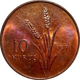 Turkey 10 Kurus 1969-1973 KM#891.2