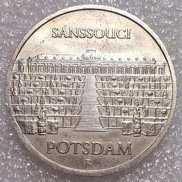 GDR 5 Mark 1986 A - Potsdam - Sanssouci Palace KM#110 UNC