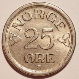 Norway 25 Öre 1952-1957 KM#401