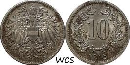 Austria 10 Heller 1916 KM#2825 VF-