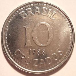 Brazil 10 Cruzados 1987-1988 KM#607