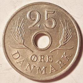 Denmark 25 Öre 1966-1971 KM#855.1