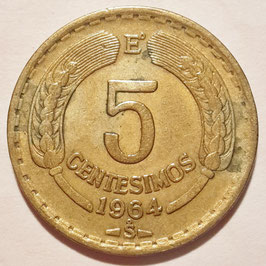 Chile 5 Centesimos 1960-1971 KM#190