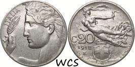 Italy 20 Centesimi 1908-1922 KM#44
