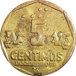 Peru 5 Centimos 1991-1996 KM#304.1