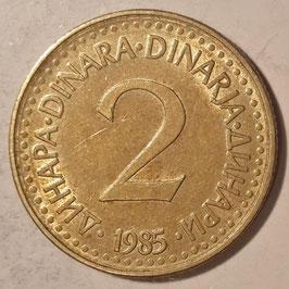 Yugoslavia 2 Dinara 1982-1986 KM#87