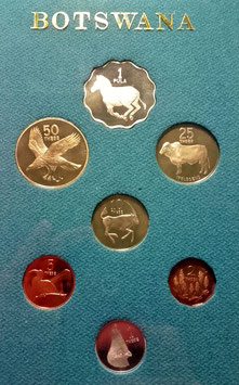 Botswana proof Set 1981