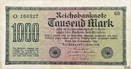 Germany 1000 Mark 15.09.1922 Ro 75b Printer: GD
