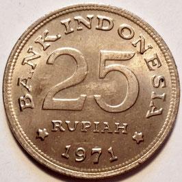 Indonesia 25 Rupiah 1971 KM#34 XF