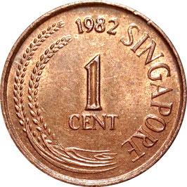 Singapore 1 Cent 1976-1985 KM#1a