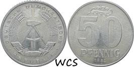 GDR 50 Pfennig 1982 KM#12.2 Prooflike-