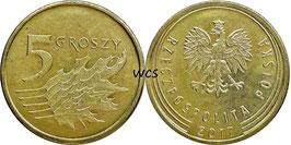 Poland 5 Groszy 2013-Date Y#925
