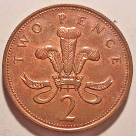 Great Britain 2 Pence 1992-1997 KM#936a