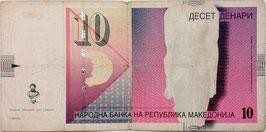 Macedonia 10 Denar 01.2007 P.14g VG