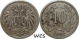 Austria 10 Heller 1915-1916 KM#2822 Variante: 1925- VF