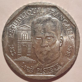 France 2 Francs 1995 - 100th Anniversary of the Death of Louis Pasteur KM#1119 XF