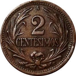 Uruguay 2 Centesimos 1943-1951 KM#20a
