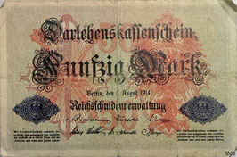 Germany 50 Mark 05.08.1914 Ro 50b Series R