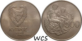 Cyprus 500 Mils 1975 KM#44 UNC