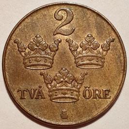 Sweden 2 Öre 1909-1950 KM#778