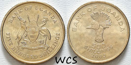 Uganda 500 Shillings 2003 KM#68a UNC