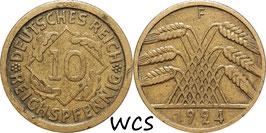 Germany - Weimar Republic 10 Reichspfennig 1924-1936 KM#40
