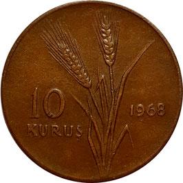 Turkey 10 Kurus 1958-1968 KM#891.1