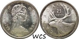 Canada 25 Cents 1965 KM#62 XF