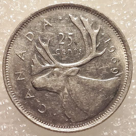 Canada 25 Cents 1968-1978 KM#62b