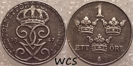 Sweden 1 Öre 1942-1950 KM#810