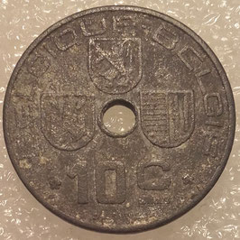 Belgium 10 Centimes 1941-1946 BELGIQUE-BELGIE (German Occupation) KM#125