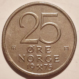 Norway 25 Øre 1974-1982 KM#417