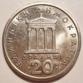 Greece 20 Drachmai 1976-1980 KM#120