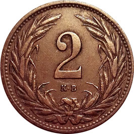Hungary 2 Filler 1892-1915 KM#481