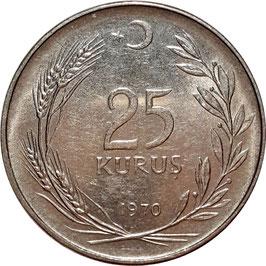 Turkey 25 Kurus 1966-1978 KM#892.3