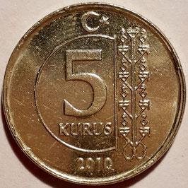 Turkey 5 Kurus 2009-2018 KM#1240