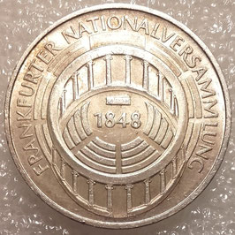 Federal Republic 5 Mark 1973 G - 125th Anniversary of Frankfurter Nationalversammlung KM#137 VF