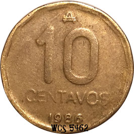 Argentina 10 Centavos 1985-1988 KM#98