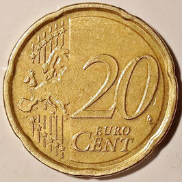 Belgium 20 Cents 2009-2013 KM#299