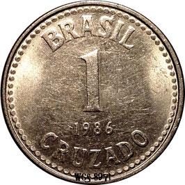 Brazil 1 Cruzado 1986-1988 KM#605