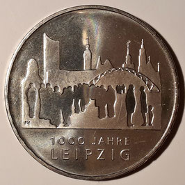 Germany 10 Euro 2015 (F) 1000th Anniversary - City of Leipzig KM#2343 BU
