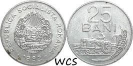 Romania 25 Bani 1982 KM#94a VF
